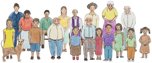 Group illustration of people